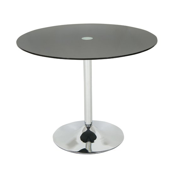 Romano Dining Table Round In Black Glass