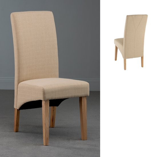 Roma Cream Fabric Dining Chair, ROM10 18568 Furniture In