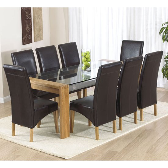 Rectangle glass dining room table - Room Furniture 8 Seater Glass Dining Table Sets Arturo Rectangle