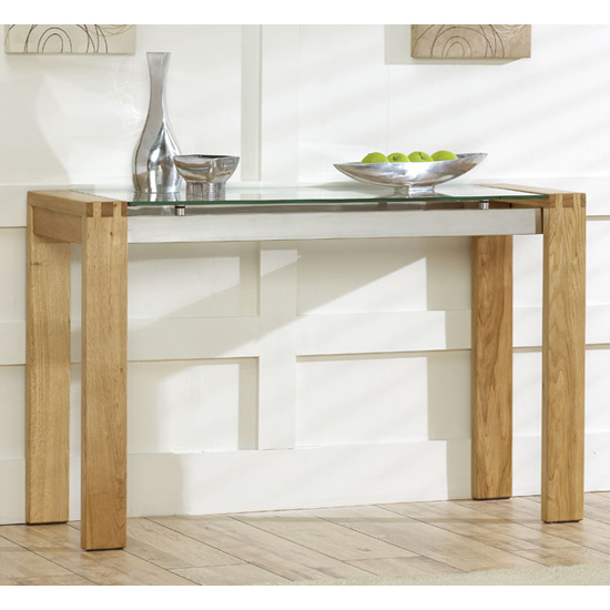 Read more about Arturo solid oak and glass console table