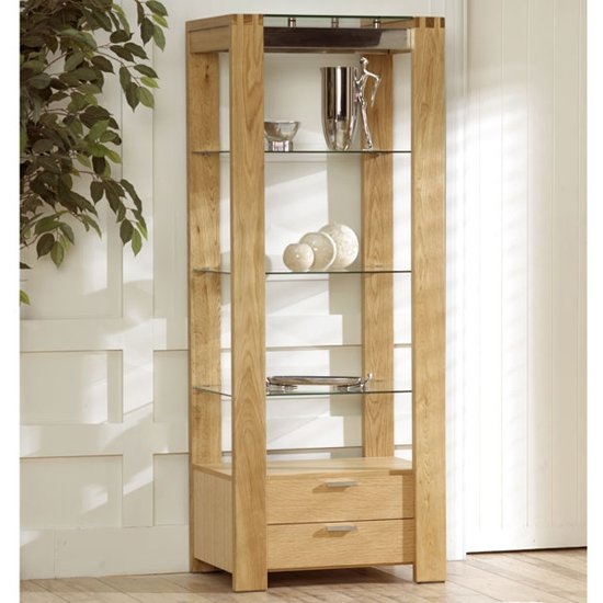 ROMA Oak Glass Wall Unit - Finding The Right Glass Display Cabinets