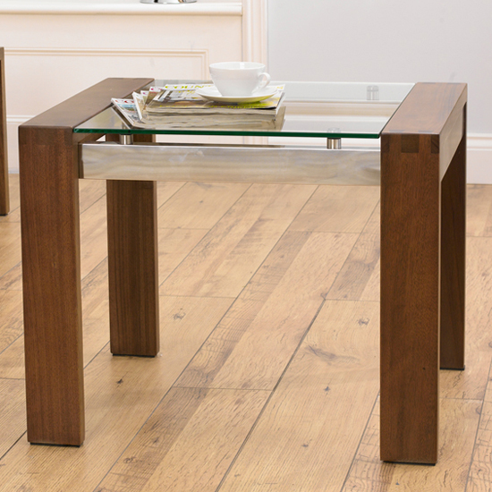 ROMA Walnut & Glass End Table - Coffee Tables For Corner Sofas: 8 Impressive Examples For Any Interior