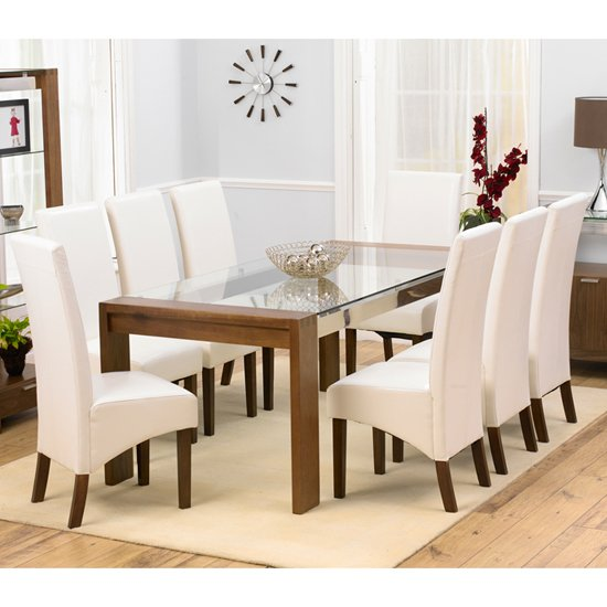 Buy cheap glass dining table 8 compare tables prices for for Furniture in fashion