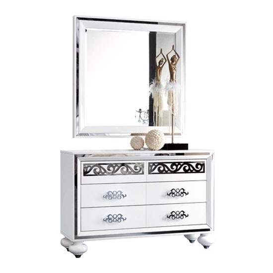 ROMANTICA 3  DRESSER+MIRROR - 8 Stylish Ideas On TV Stands For Bedroom Dressers To Spruce Up The Room
