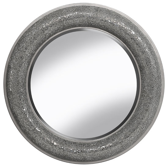 Kyra Decorative Wall Mirror Round In Silver
