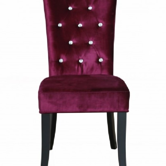 belfast dining chair in crushed purple velvet in a pair. Black Bedroom Furniture Sets. Home Design Ideas