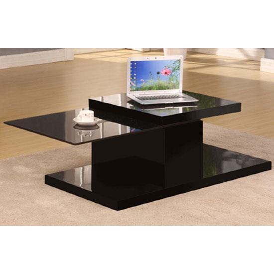 Ridgeway Black High Gloss Finish 360` Motion Coffee Table