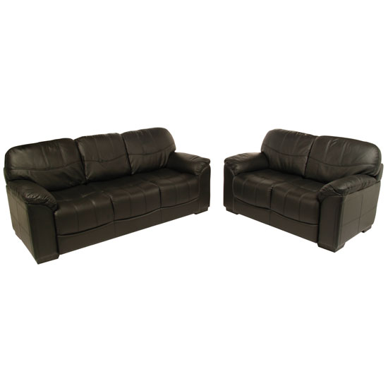 Superb Rebecca 3 2 Seater Black Leather Sofa Set Pdpeps Interior Chair Design Pdpepsorg
