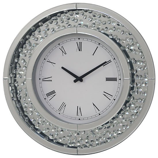 Rosalie Wall Clock Round In Mirrored Glass With Crystals : Rhombus Wall Clock PHCL201 from www.furnitureinfashion.net size 550 x 550 jpeg 69kB