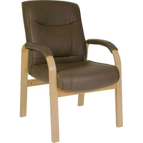 Richmond Leather And Wood Visitors Office Chair