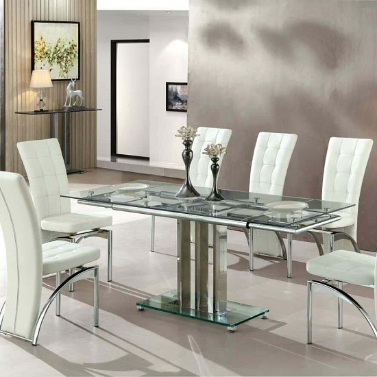 Ravenna White Faux Leather Dining Room Chair 19495 Furniture