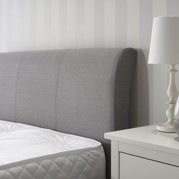 Newton Storage Single Bed In Grey Linen Fabric_4