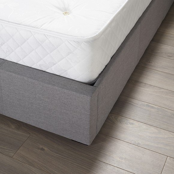 Newton Storage Single Bed In Grey Linen Fabric_3