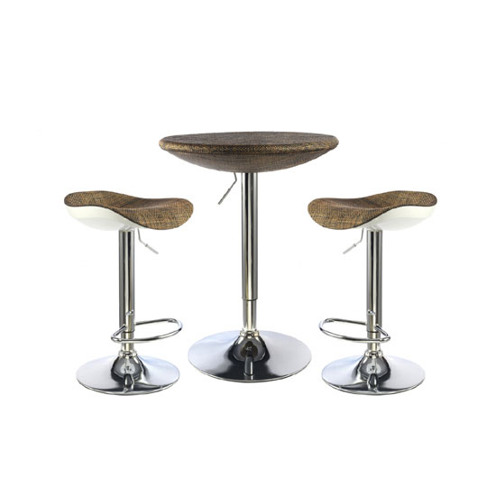 Ripley Textilene Top Bar Table With 2 Bar Stool