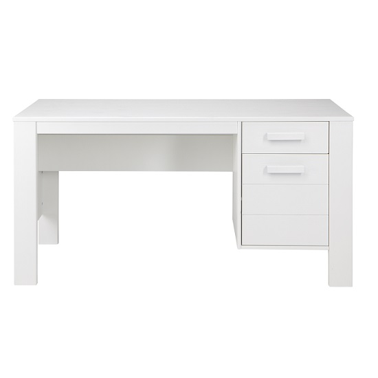Hillock Wooden Computer Desk In Solid White Pine