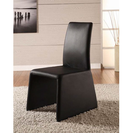 2 x Gianti Black Faux Leather Dining Chair