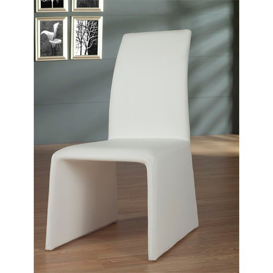 2 x Gianti White Faux Leather Dining Chair