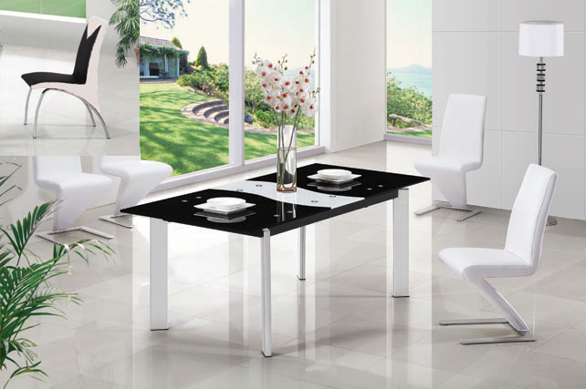 Roma ext blkwht din set - Where to Find Super Furniture