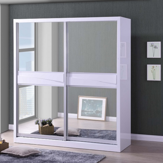 Romace Sliding wardrobe - How To Choose White Mirrored Wardrobes That Match Your Design Scheme