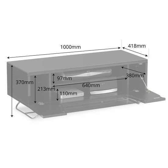 Romi LCD TV Stand In Grey With Chrome Base_3