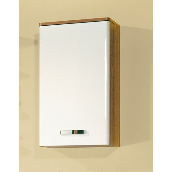 Rondo Walnut White Bathroom Wall Storage Cabinet