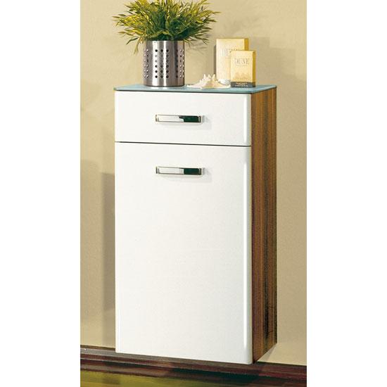 rondo walnut white tall bathroom cabinet 0739 94 buy