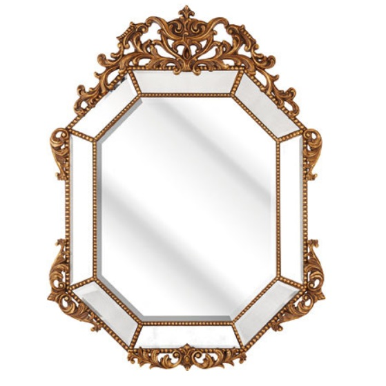 Rossini Wall Mirror In An Octagonal Gold Frame
