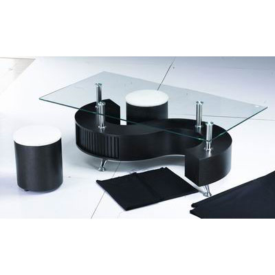 S BLACK BLACK coffee table - What Furniture To Put In Bay Window: 5 Suggestions