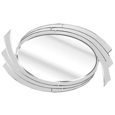 Solitaire Semi Swirl Wall Mirror