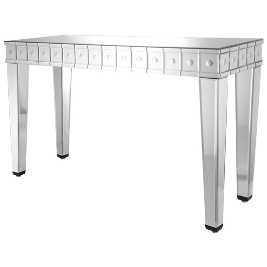 View Solitaire mirrored console table in bubble panel design