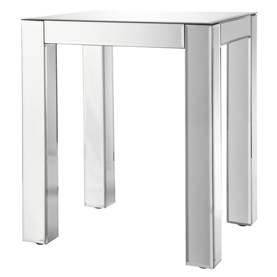 View Solitaire mirrored side table