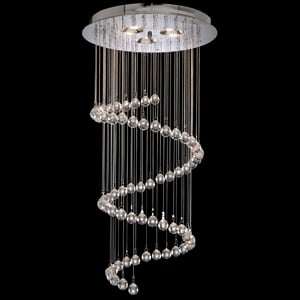 SPIRAL CRYSTAL BALLS CEILING LIGHT