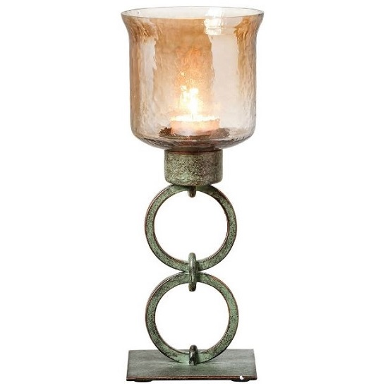 Lara Votive Small Candle Holder With Smoked Glass Top