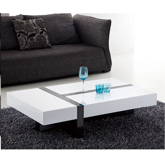 ST C22 rectangle storage coffee table white - Reasons To Buy Coffee Tables With Storage Drawers