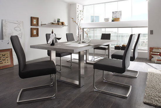 Savona Grey Dining Table With 8 Antigua Dining Chairs