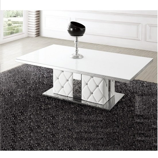 STM 721 white diamante stud coffee table - 6 Strong Suits Of A Round Glass Coffee Table Gumtree With Wood Base