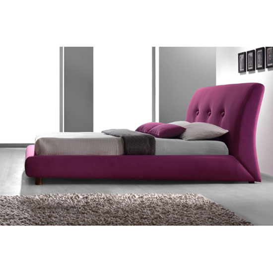 Sache Ruby Pink Fabric Finish Double Bed