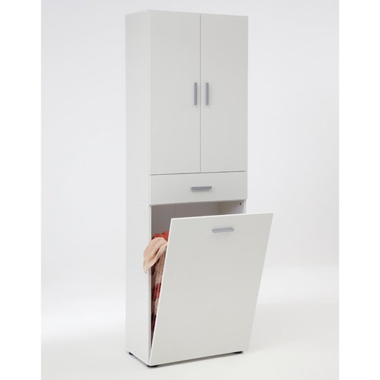 Salamanca Laundry Cabinet In White 18497 Furniture In