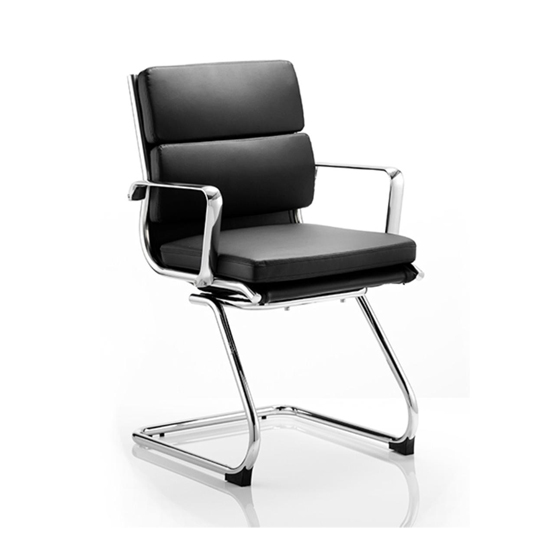 Loutaz Home Office Chair In Black And White Faux Leather