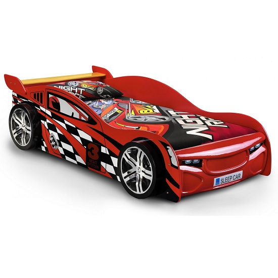 Alfred Kids Racing Car Bed In High Gloss Red_2