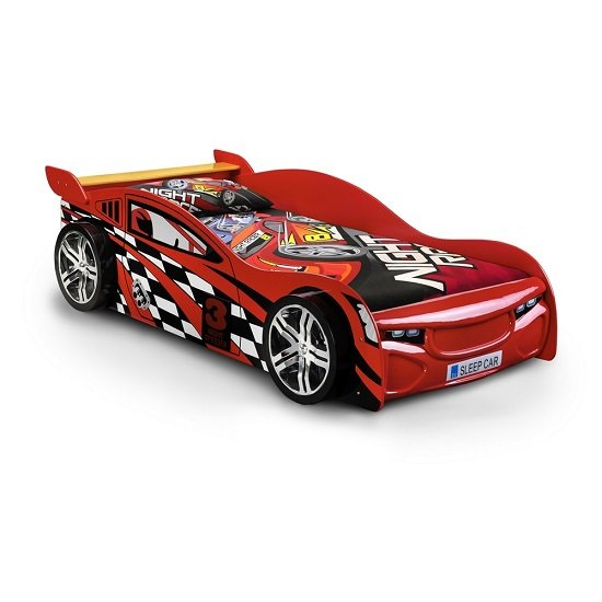 Read more about Alfred kids racing car bed in high gloss red
