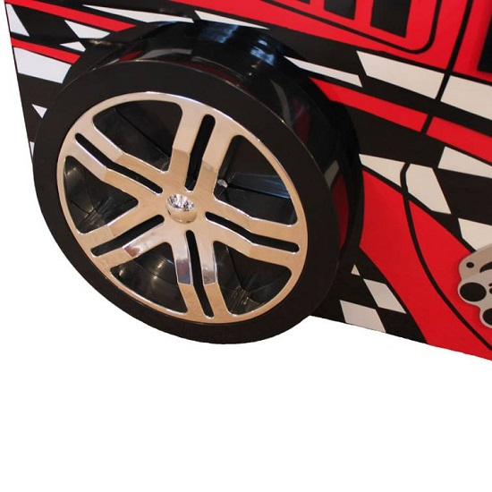 Alfred Kids Racing Car Bed In High Gloss Red_3