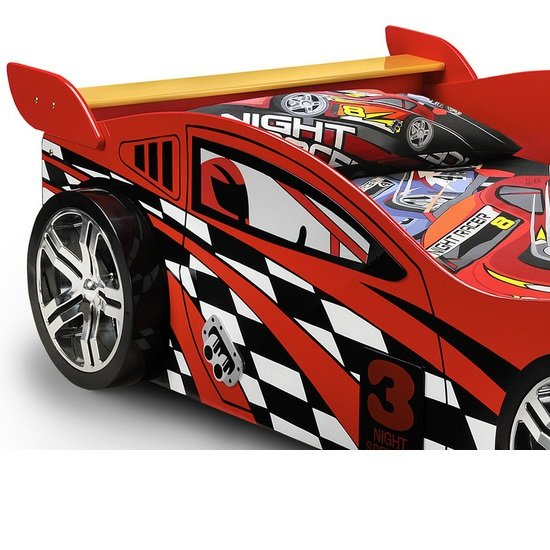 Alfred Kids Racing Car Bed In High Gloss Red_4