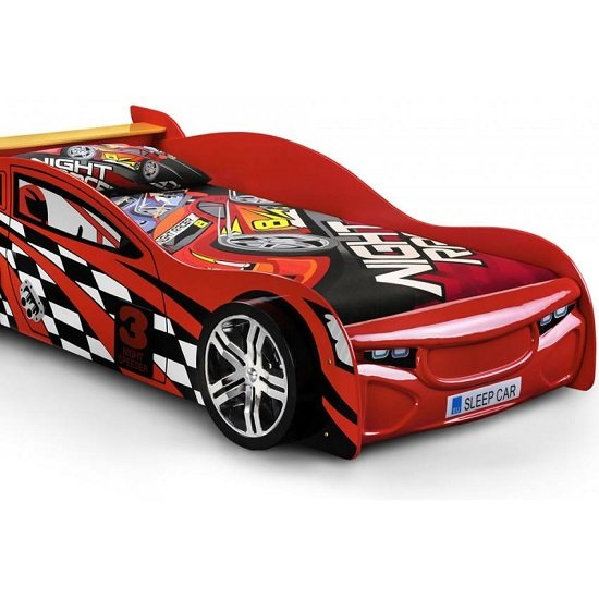 Alfred Kids Racing Car Bed In High Gloss Red_5