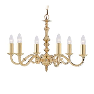 Seville Multi Arm Ceiling Light In Polished Brass
