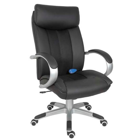 Bicester Office Chair In Black PU Leather With Massage Function