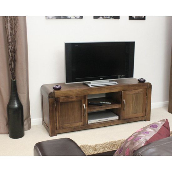 Shiva Walnut Widescreen Television Cabinet