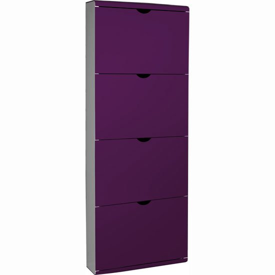 Furniture In Fashion 4 Drawer Metal Front Shoe Cabinet