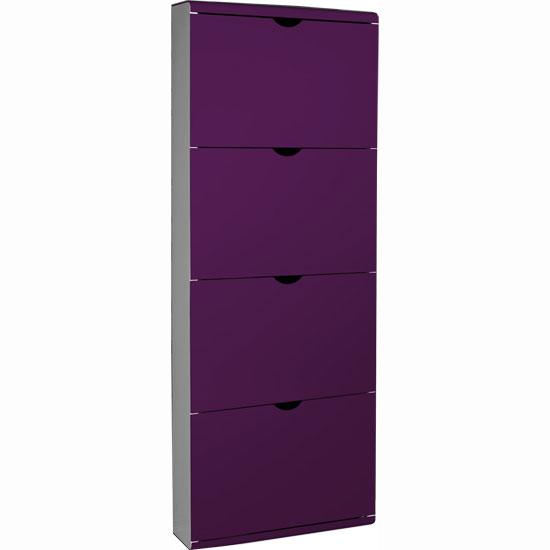 Furniture In Fashion 4 Drawer Metal Front Shoe Cabinet