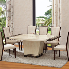 Buy Marble Dining Table And 6 Chairs Furniture In Fashion